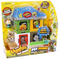 The Ugglys Pet Shop - Mini Paskudniak Manic Monkey z 2 domkami 19414