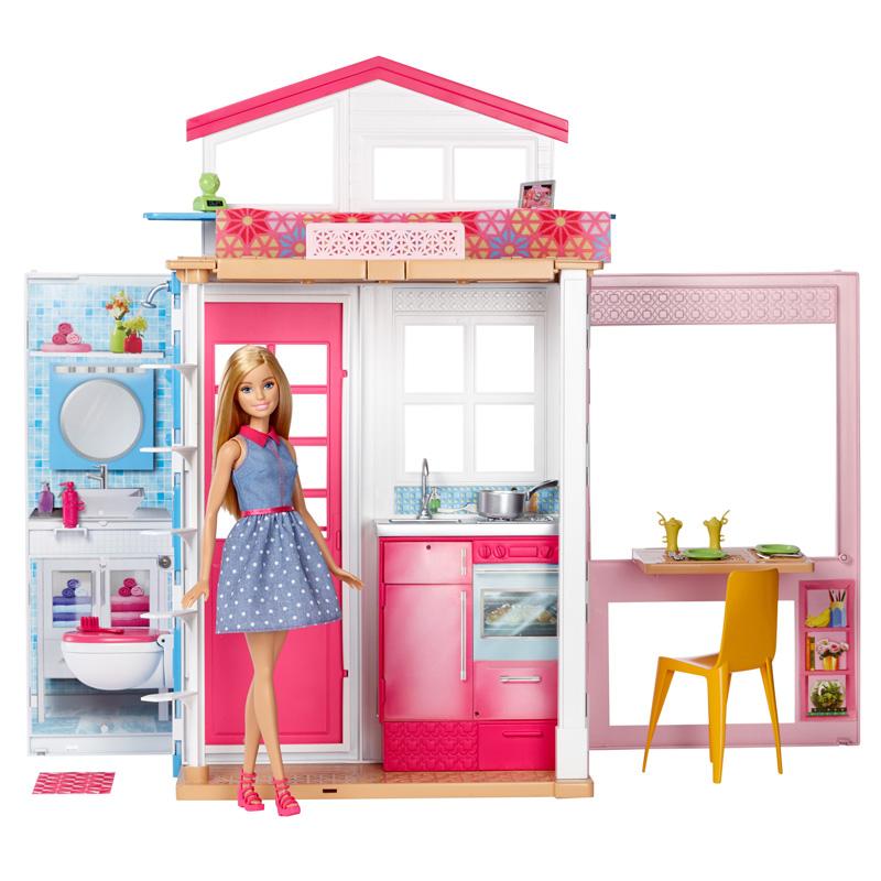 Barbie - Dwupoziomowy domek z lalką DVV48