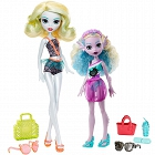 Monster High - Monster Family Lagoona Blue z młodszą siostrą FCV82