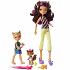 Monster High - Monster Family Clawdeen Wolf z rodzeństwem FCV81