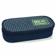 CoolPack - CAMPUS Piórnik z organizerem Dots Yellow Navy 62060