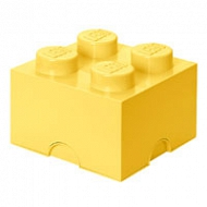 Pojemnik LEGO Design 4 jasnożółty - cool yellow 40031741