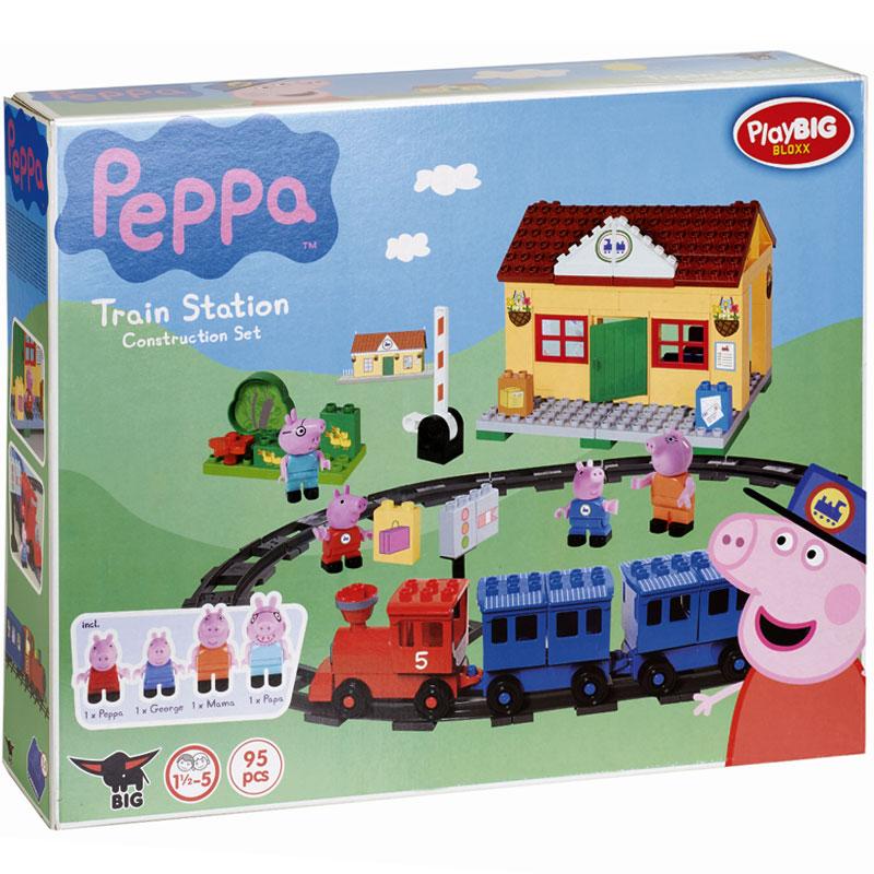 Big - Klocki Świnka Peppa Dworzec kolejowy z pociągiem 57079