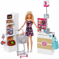 Barbie Supermarket z lalką FRP01