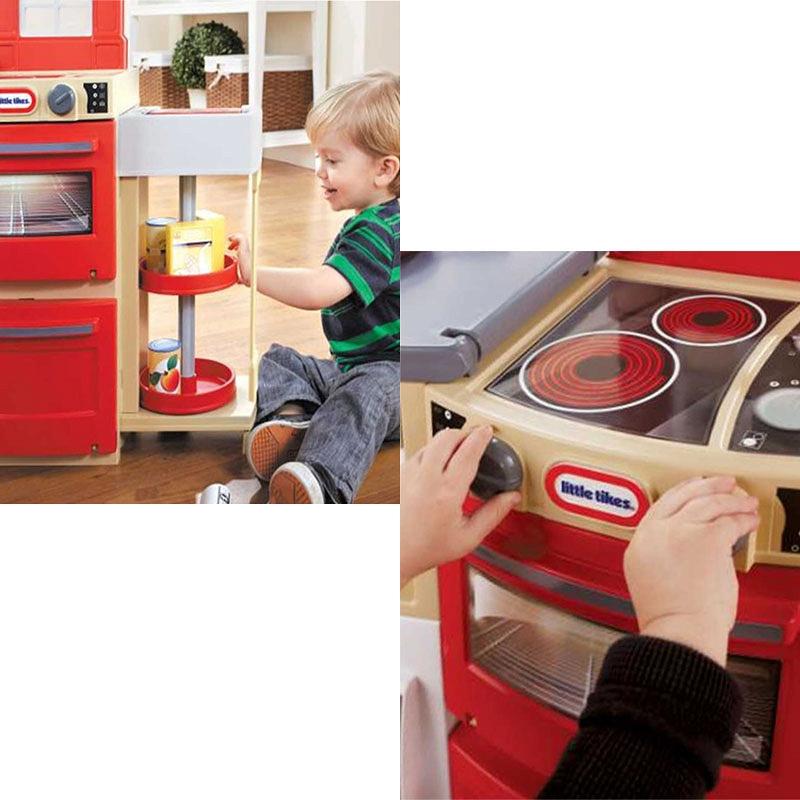 Little Tikes  Kuchnia kompaktowa Cook and Store 638701 -> Little Tikes Kuchnia Elektroniczna Rodzinna Kuchenka
