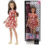 Barbie Fashionistas - Lalka 97 Cats Dress Petite FJF57